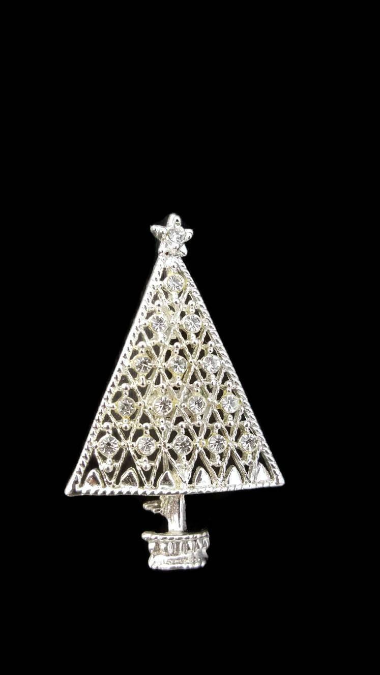 Eisenberg Christmas Tree Brooch, Eisenberg Ice Jewelry, Christmas ...