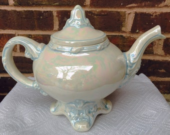 Vintage & Collectible Lustreware Teapot - Signed by the Artist, Pedi