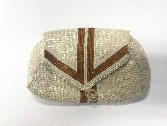 Vintage Glass Beaded Purse, 1930's