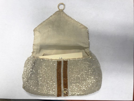 Vintage Glass Beaded Purse, 1930's - image 4