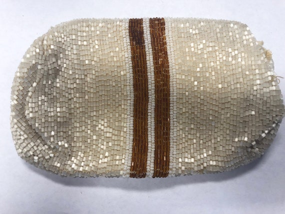 Vintage Glass Beaded Purse, 1930's - image 3