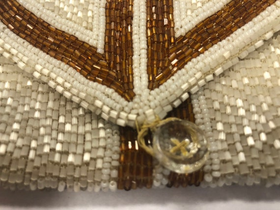 Vintage Glass Beaded Purse, 1930's - image 2