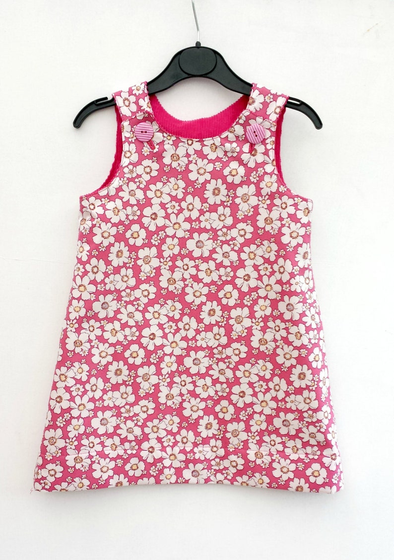 Girls Clothes Birthday Outfit Girls Reversible Dress Special Occasion Girls Dress Girls Daisy Dress Daisies Girls Pinafore