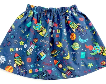 Rockets Skirt, Rockets, Rockets Clothing, Planets Skirt, Outer Space, Space Skirt, Space Outfit,, Girls Skirt, Galaxy Skirt, Galaxy Outfit