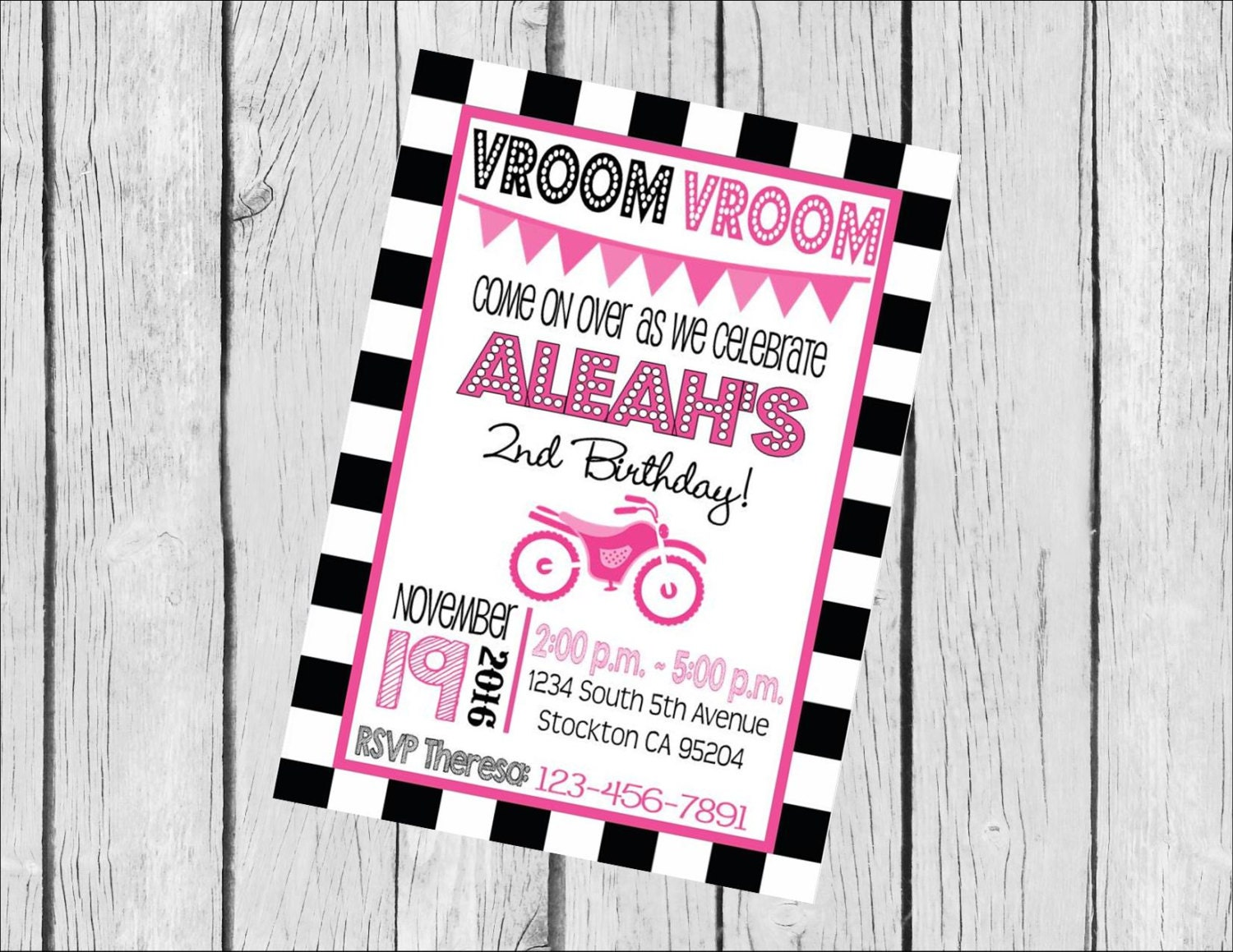 Customized 5x7 Printable OR Printed Invitation WITH Envelopes ...