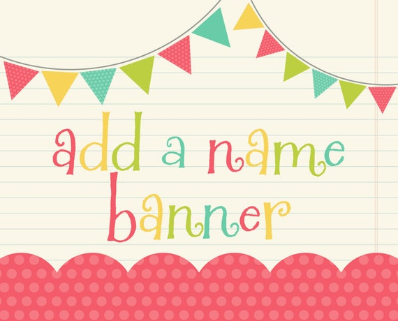 add a name banner to any happy birthday banner choose any etsy