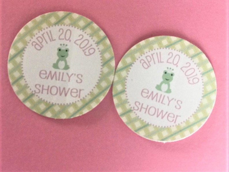 Frog Prince Princess Crown Its a Girl or Its a Boy Green Pink Plaid Baby Shower Banner Sign Decorations Other Colors Available