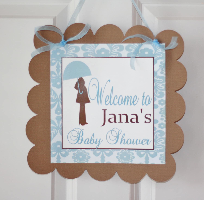 Baby Boy Theme Shower Door Sign Door Hanger Many Options