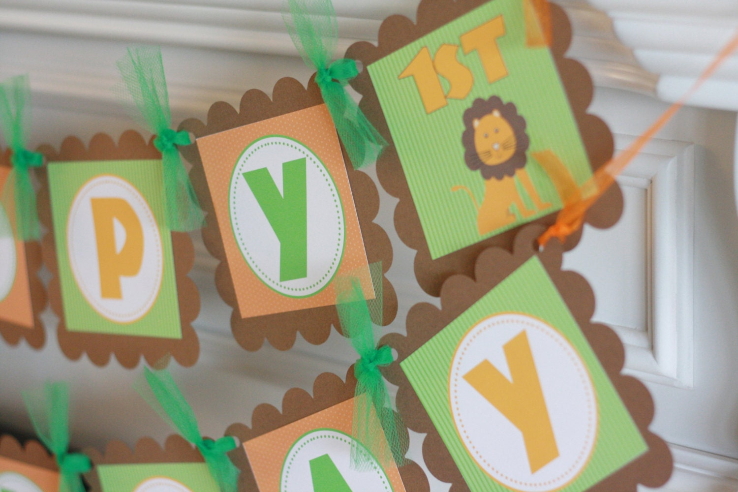 Happy Birthday Lion Giraffe Jungle Animal Theme Banner Ask About Party Pack Our Special