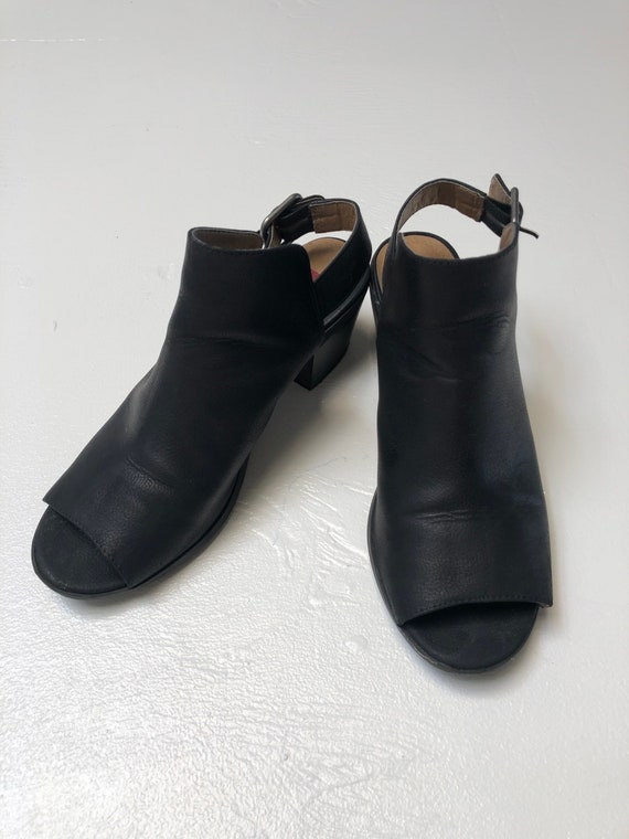 Vintage 90s black Unionbay chunky clog mules 7.5 - image 4