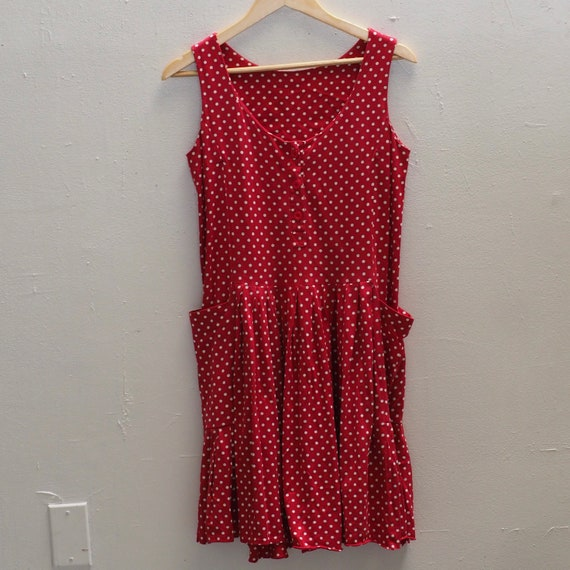 Vintage 90s Laura Ashley red and white polka dot … - image 4