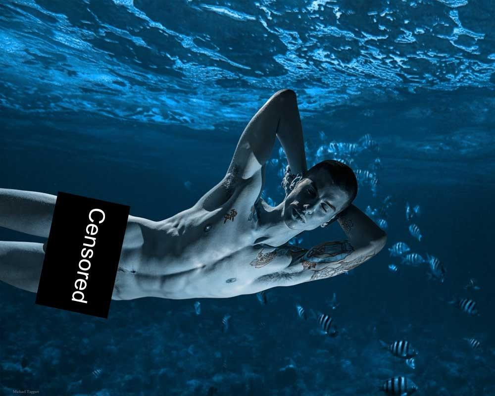 In Dreams He Came to Me Version 2 Gay Art Male Art Digital