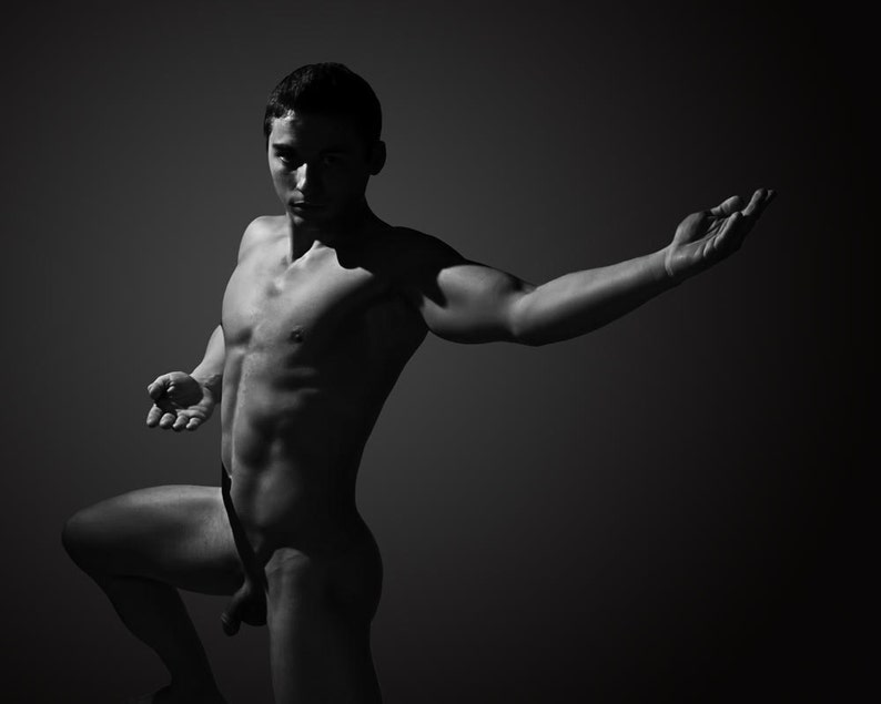 Young Male Models, Artistic Nude Group Shoot