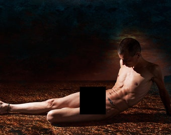 Dark Earth 2 Gay Art Male Art Nude Photo Print by Michael Taggart Photography muscle muscles muscular strong fit athletic
