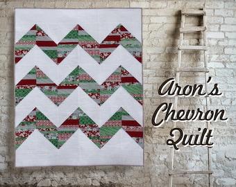 Aron's Chevron Quilt Pattern - Fat Quarter Quilt