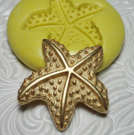 STARFISH Flexible Silicone Rubber Push Mold for Resin Wax FIMO Fondant Clay  Ice 1885