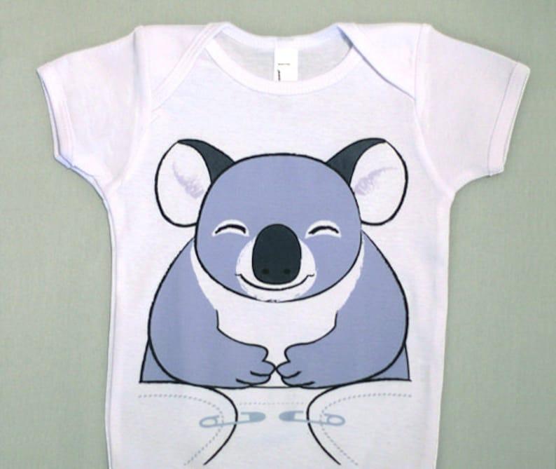 58b4bc9cb Koala Baby Clothes Funny Baby Bodysuit Koala Bear Baby | Etsy