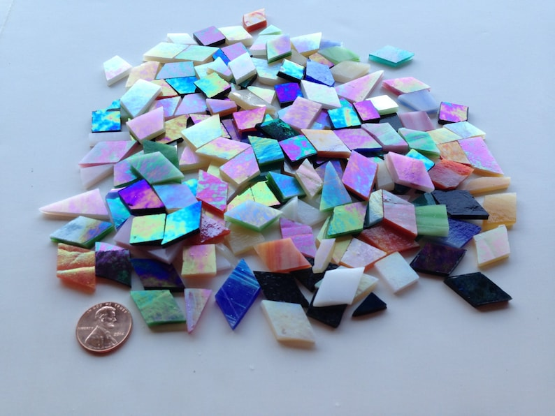 Mosaic Kit Mirror Make Your Own Stained Glass Mosaic Etsy