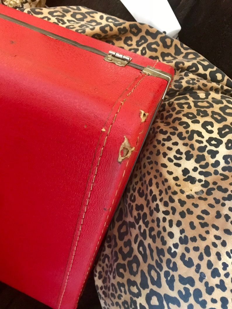 Vintage Red Suitcases 1950