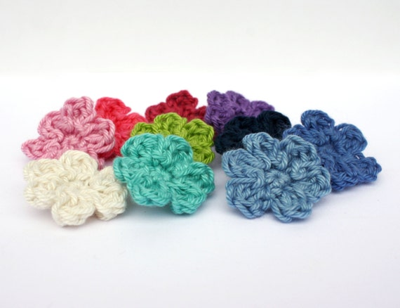 Tiny Crochet Flower Appliqus Sewing Accessories Flower Etsy