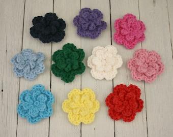 Large Crochet Flower Appliqués - Pick Your Colour