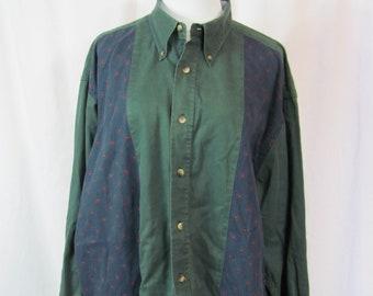 Vintage Mens 90s NAUTICA Button Down Long Sleeve Shirt