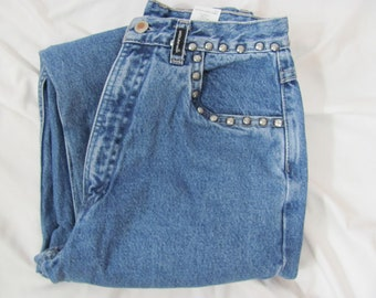 26bea1bc0bc Awesome vintage 90s Womens ROCKIES High Waist Studded Denim Jeans