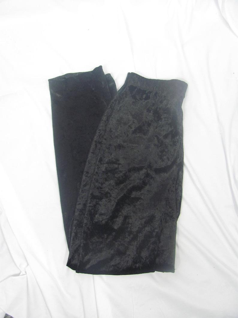 Vintage 90s Womens Black Velvet  Velour Pants