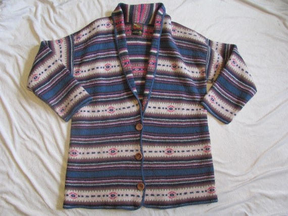 Vintage 90s WOOL Cardigan Sweater Long Sleeve Jack