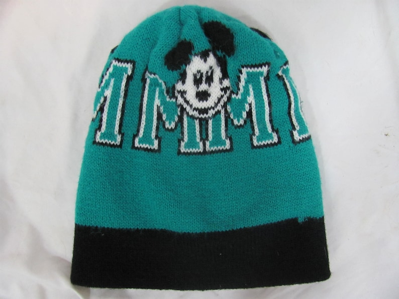 757f5e3470859 Vintage 90s Childs MICKEY MOUSE Stocking Cap   Hat   Winter