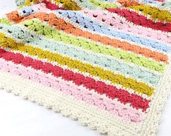 Crochet Pattern Blanket, Flower Power Blanket, Pattern for Crochet, Baby Blanket, Lap Blanket, Cot Cover, Summer Blanket, Crochet Blanket