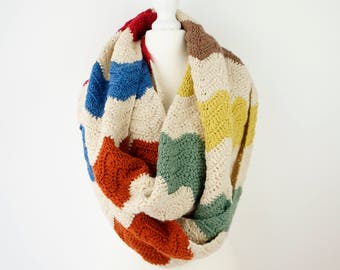 Country style modern vintage crochet patterns by littledoolally big chunky scarf crochet pattern infinity scarf woolen cowl zig zag circle scarf vintage retro fall scarf warm cowl modern crochet fandeluxe Gallery