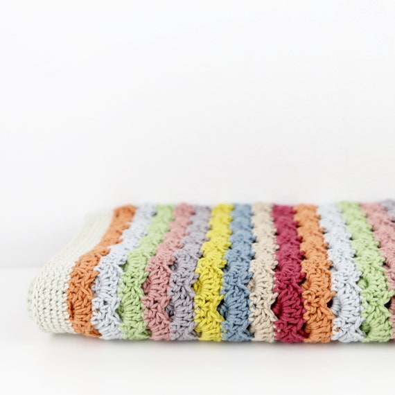 Blanket Crochet Pattern Rainbow Blanket By Little Doolally Easy