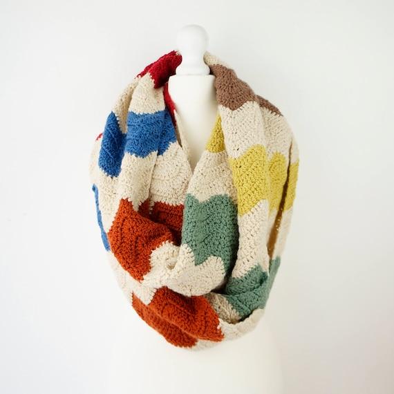 Große Grobstrick Schal Häkelanleitung Schal Wolle Schal | Etsy