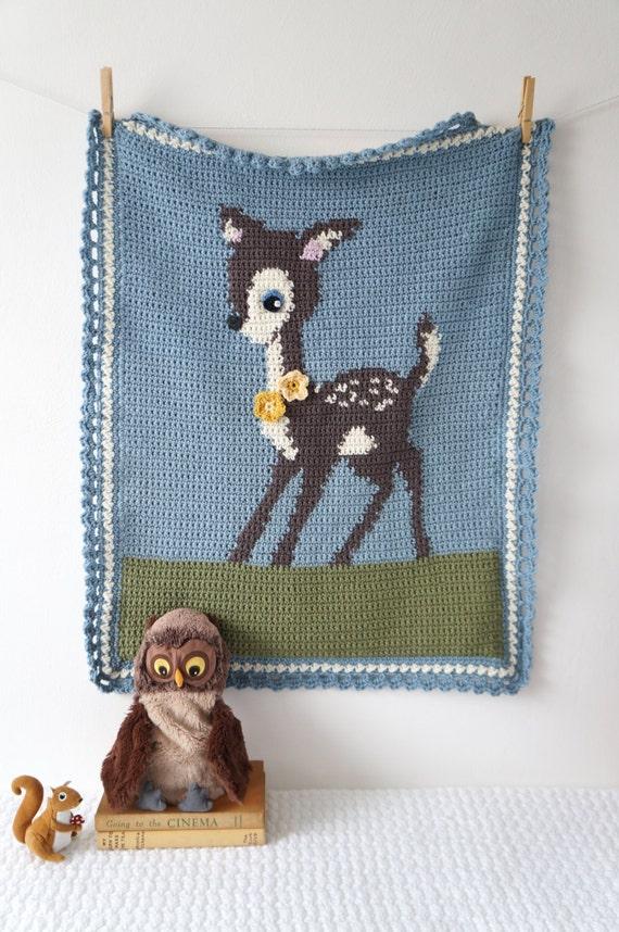 Woodland Kindergarten Deer Decke Muster für junge Decke | Etsy