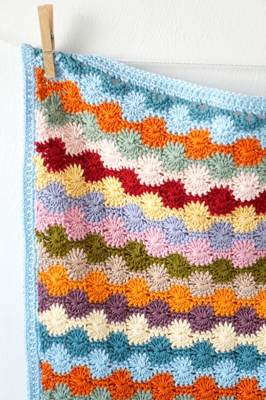 Blanket Pattern, Crochet Tutorial, Baby Gift, Bright, Car seat Throw ...