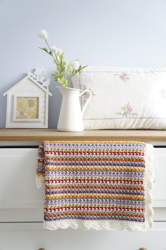 Baby Crochet Blanket Pattern Easy to Make For Boy or Girl | Etsy
