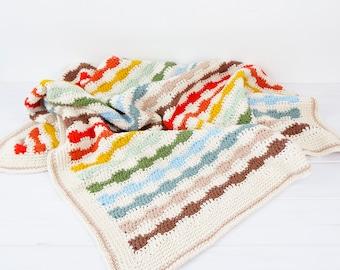 Crochet Pattern, Crochet Blanket, Blanket Pattern, Rainbow Crochet, Rainbow Blanket, Lap Blanket, Baby Blanket, Afghan, Lap, Throw, Beginner