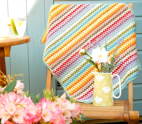 Easy Crochet Afghan Crochet Pattern Beginner Pattern Etsy