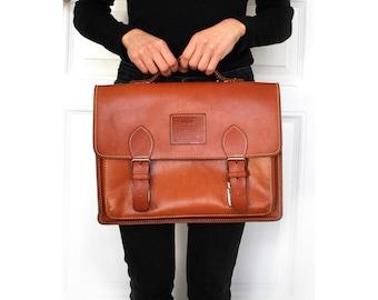 Messenger bag leather leather rucksack school bag briefcase GEORGE