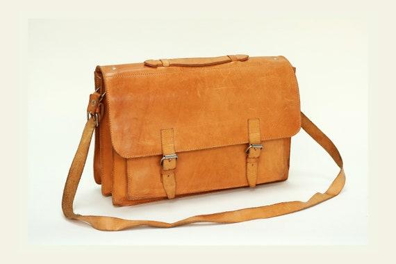 Leather messenger bag laptop leather bagHERA
