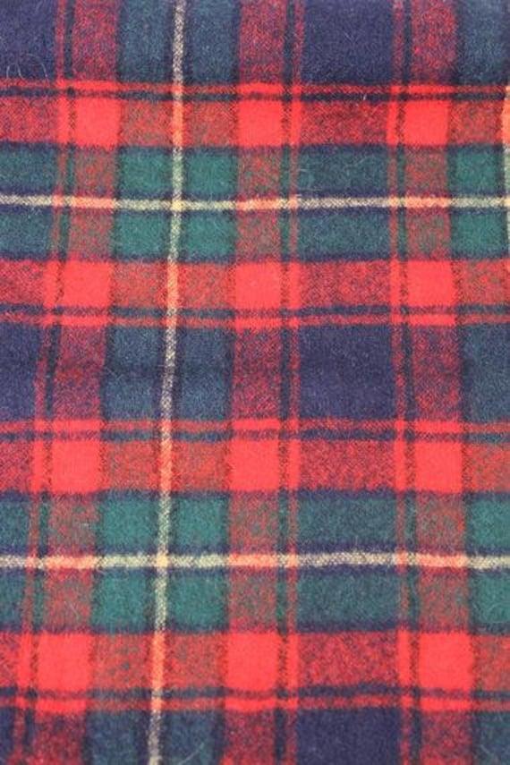 Vintage Pendleton Plaid Tartan Wool Scarf - image 2