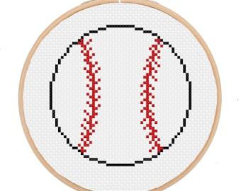 Baseball Cross Stitch Pattern -- Instant Digital PDF Download!