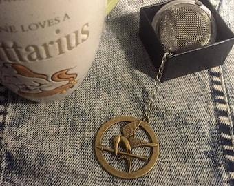Hunger Games tea ball mockingjay loose leaf infuser