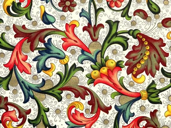Leporello couverture impression CARTA d'or «Paradiso fiorentino» CARTA impression italien FIORENTINA 66d8e9
