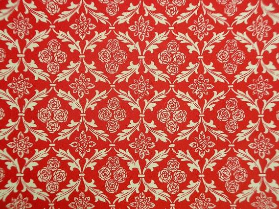 Housse de Leporello italien CARTA VARESE design design design «Empire rouge» 7156cc