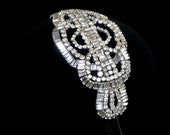 Vintage style bridal headpiece or side tiara - Perchin