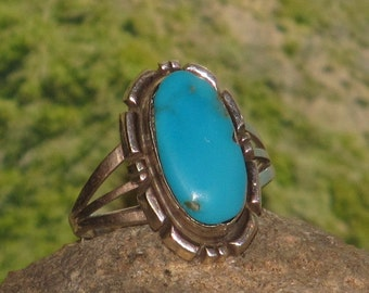 Sterling silver turquoise ladies/womens ring
