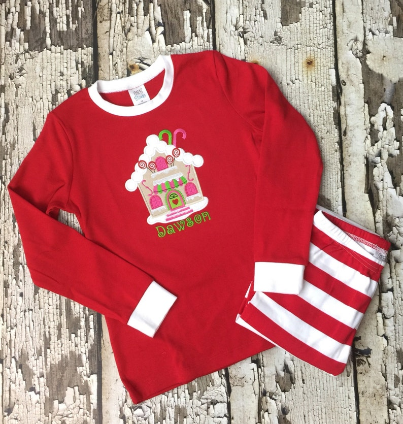Gingerbread House Pajamas Christmas Ginger Bread House Pjs Gingerbread House