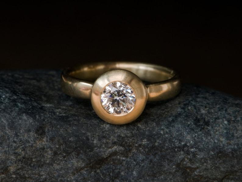 Diamond Engagement Ring Medieval Design Engagement Ring 18k image 0